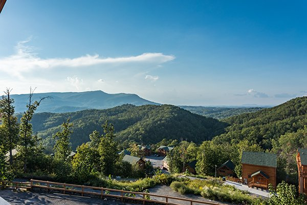 Mountain views at The Sugar Shack, a 2 bedroom cabin rental located in Pigeon Forge
