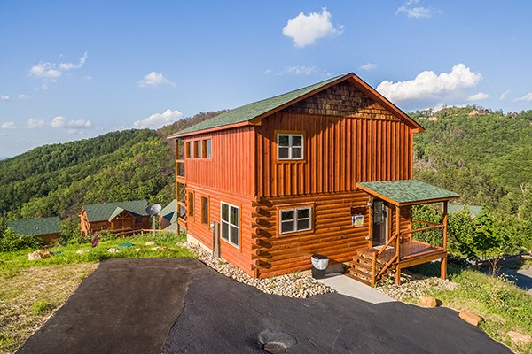 Paved parking at The Sugar Shack, a 2 bedroom cabin rental located in Pigeon Forge