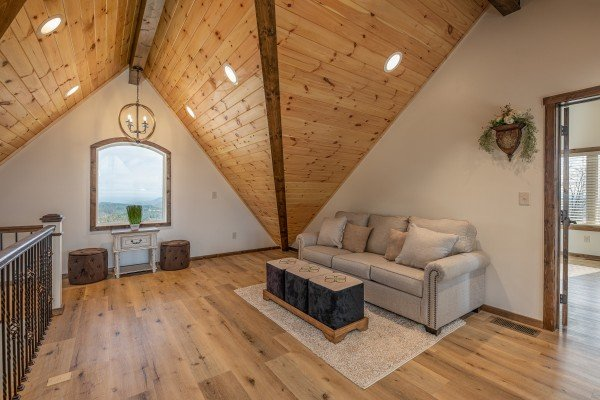 Loft space at Mountain Celebration, a 4 bedroom cabin rental located in Gatlinburg