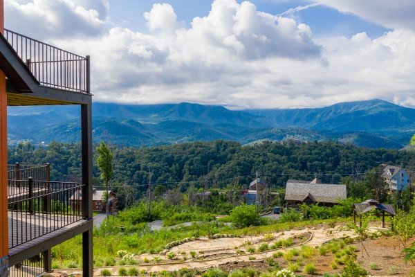 Mountain views at Mountain Celebration, a 4 bedroom cabin rental located in Gatlinburg