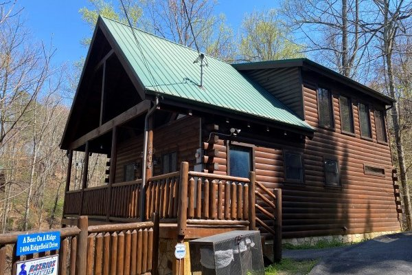 at a bear on the ridge a 2 bedroom cabin rental located in pigeon forge