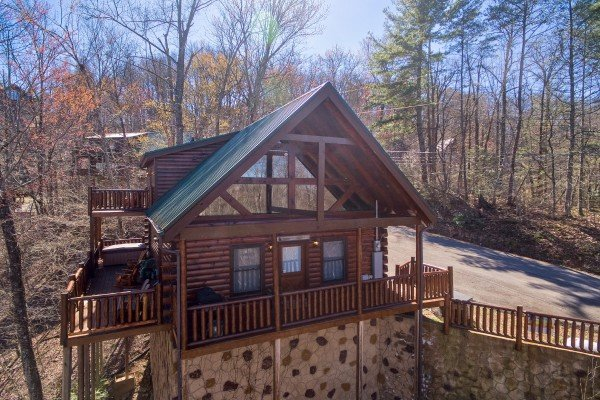 Exterior view of A Bear on the Ridge, a 2 bedroom cabin rental located in Pigeon Forge
