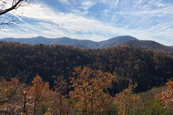 Fall Smoky Mountain view at Mystic Ridge, a 4 bedroom Pigeon Forge cabin rental