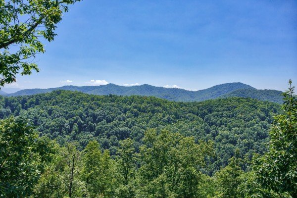Mountain view as seen at Mystic Ridge, a 4 bedroom cabin rental located in Pigeon Forge