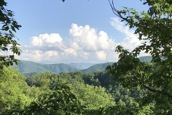 Smoky Mountain views at Mystic Ridge, a 4 bedroom cabin rental located in Pigeon Forge