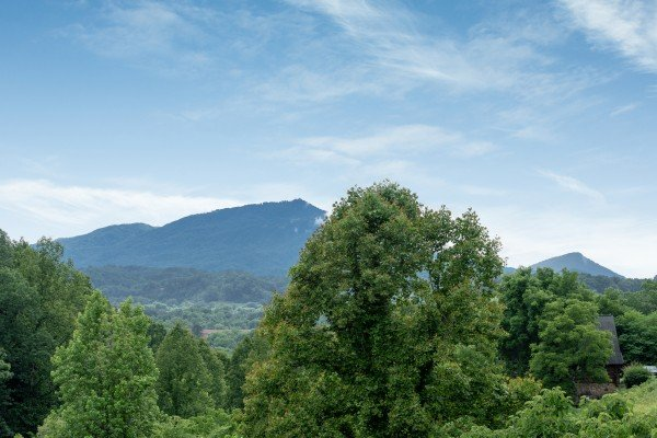 Bluff Mountain view at Romantical Rendeviews, a 1 bedroom cabin rental located in Pigeon Forge