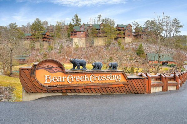 Bear Creek Crossing is where you'll find Better View, a 4 bedroom cabin rental located in Pigeon Forge