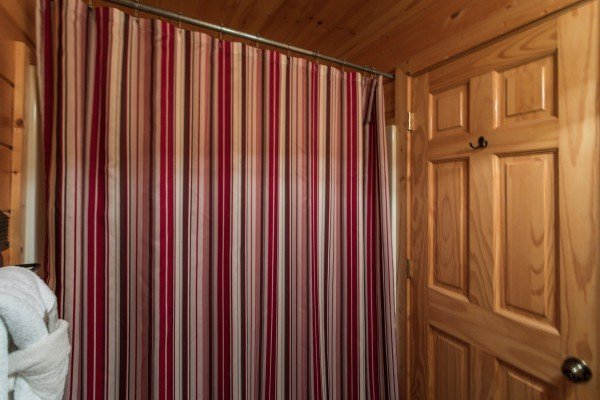 Shower in the bathroom at Better View, a 4 bedroom cabin rental located in Pigeon Forge