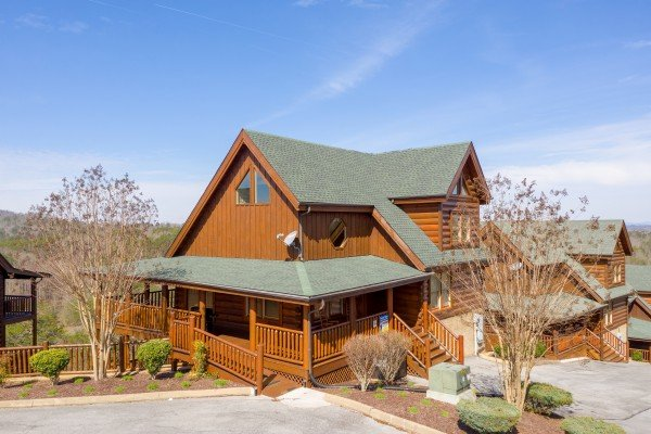 Front exterior view at Better View, a 4 bedroom cabin rental located in Pigeon Forge