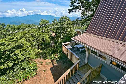 Mountain views at Terrace Garden Manor, a 13 bedroom cabin rental located in Gatlinburg