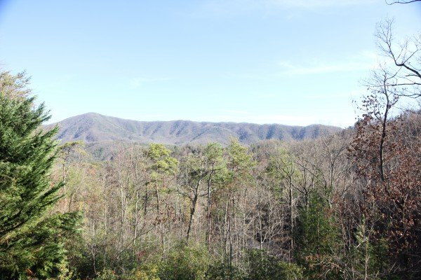 Mountain panorama view at Secluded View, a 2-bedroom cabin rental in Pigeon Forge