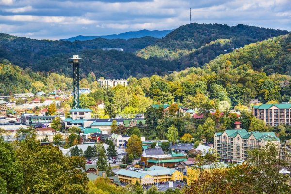Downtown Gatlinburg is close to Omg! A 2 bedroom cabin rental located in Gatlinburg