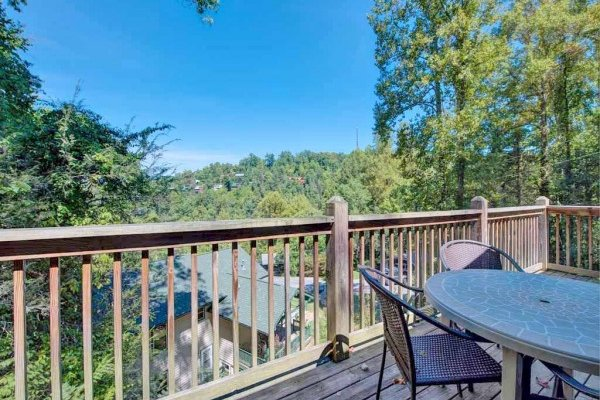 Looking out onto the hillside at Omg! A 2 bedroom cabin rental located in Gatlinburg