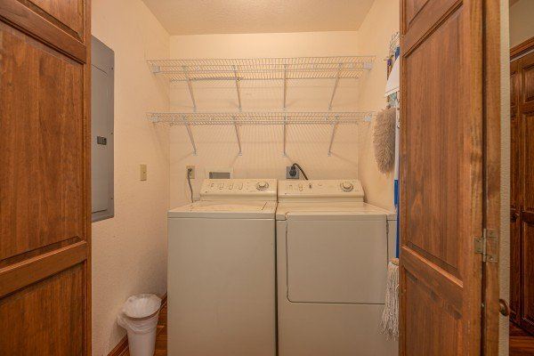 Laundry room at Lazy Bear Retreat, a 4 bedroom cabin rental located in Pigeon Forge