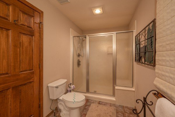Bathroom with a shower at Lazy Bear Retreat, a 4 bedroom cabin rental located in Pigeon Forge