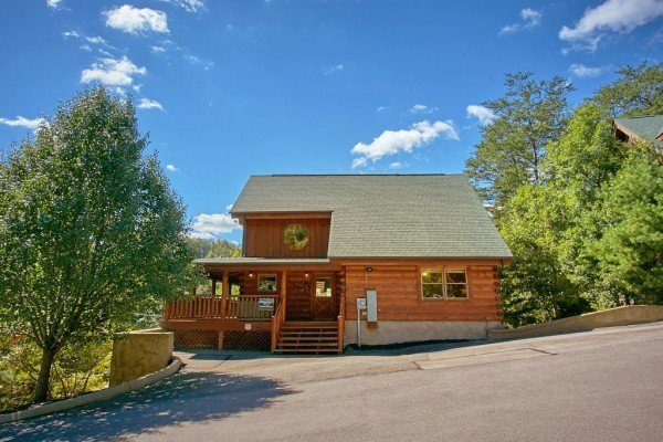 Street view at Autumn Blessings, a 2 bedroom cabin rental located in Pigeon Forge