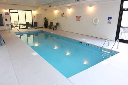 Resort indoor pool at Hibernation Hideaway #745, a 2-bedroom Pigeon Forge cabin rental