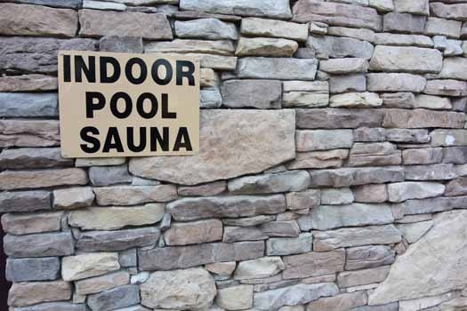 resort indoor pool and sauna at hibernation hideaway #745 a 2 bedroom cabin rental located in pigeon forge