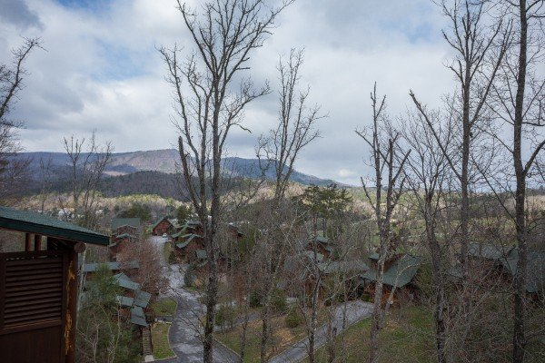 Winter mountain views at Heaven on Earth, a 2-bedroom cabin rental located in Pigeon Forge