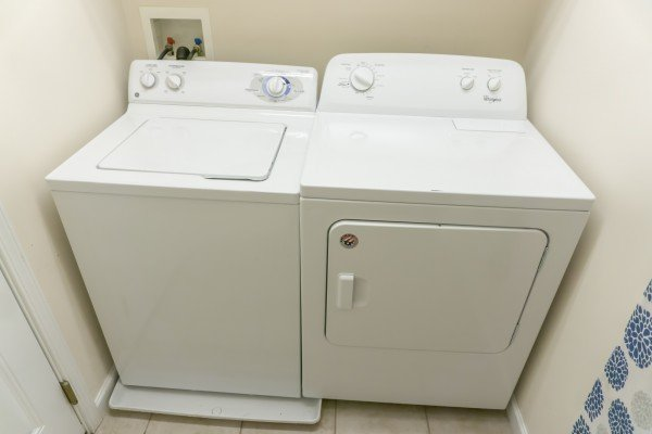 Laundry room at A Pigeon Forge Retreat, a 2 bedroom cabin rental located in Pigeon Forge
