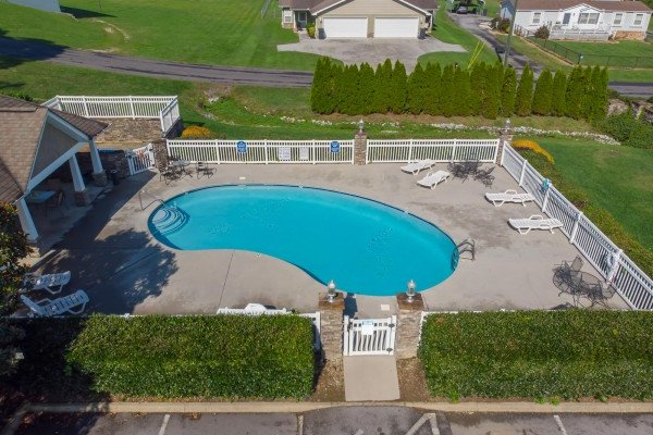 Resort pool for guests at A Pigeon Forge Retreat, a 2 bedroom cabin rental located in Pigeon Forge