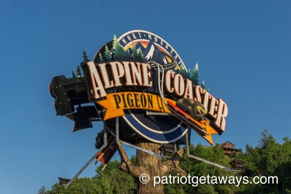 the alpine coaster near a pigeon forge retreat a 2 bedroom cabin rental located in pigeon forge