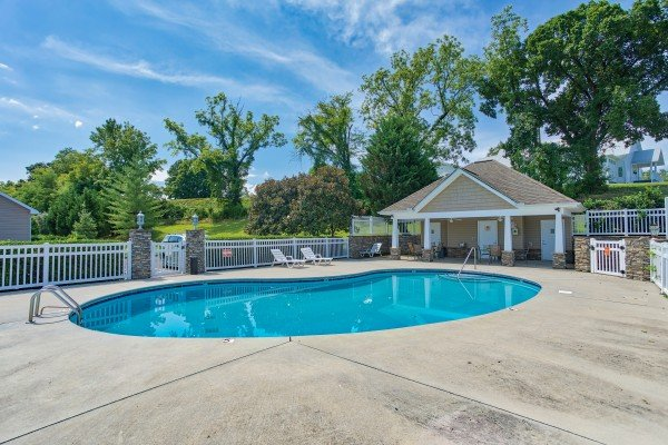 Outdoor pool at A Pigeon Forge Retreat, a 2 bedroom cabin rental located in Pigeon Forge