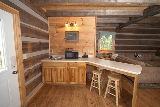 breakfast bar area at mountain lake escape a 3 bedroom cabin rental located in douglas lake