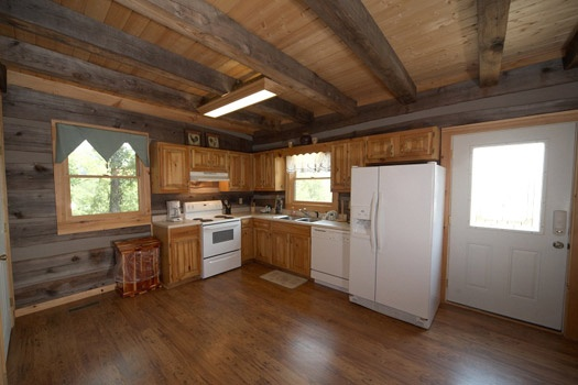 kitchen area at mountain lake escape a 3 bedroom cabin rental located in douglas lake