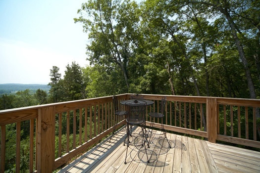 patio table on deck at mountain lake escape a 3 bedroom cabin rental located in douglas lake