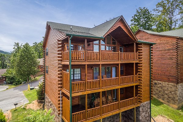 Shangri-lodge, an 8 bedroom cabin rental located in Pigeon Forge