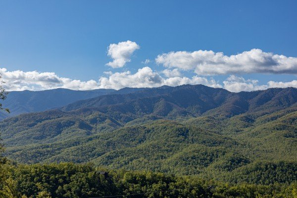 Mountain view at Heaven's Hill, a 3 bedroom cabin rental located in Gatlinburg