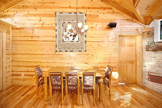 Dining room table at Moose Mountain Lodge, a 4 bedroom cabin rental located in Gatlinburg