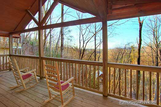 View of the Smoky Mountains at Paradise Found, a 1 bedroom cabin rental located in Gatlinburg