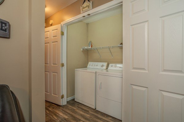 Laundry room at Peace at the River, a 3 bedroom cabin rental located in Pigeon Forge