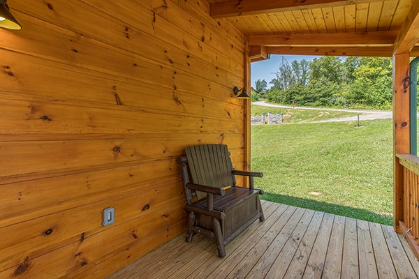 yard access from the deck at amazing grace a 3 bedroom cabin rental located in pigeon forge
