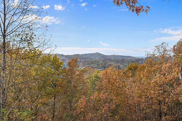 Mountain view from the deck at Papa Bear, a 3 bedroom cabin rental located in Pigeon Forge