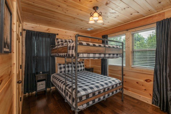 Queen bunks at Always Dream'n, a 6 bedroom cabin rental located in Pigeon Forge