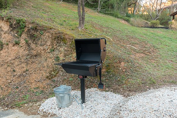 Charcoal grill at Mountain Harvest, a 3 bedroom cabin rental located in Pigeon Forge