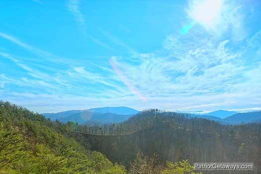 Mountain views at Sunset Vista View, a 1 bedroom cabin rental located in Pigeon Forge