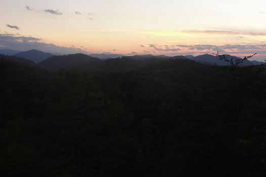 Sunset mountain view at Sunset Vista View, a 1 bedroom cabin rental located in Pigeon Forge