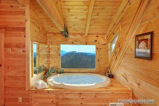 view from jacuzzi tub at sunset vista view a 1 bedroom cabin rental located in pigeon forge