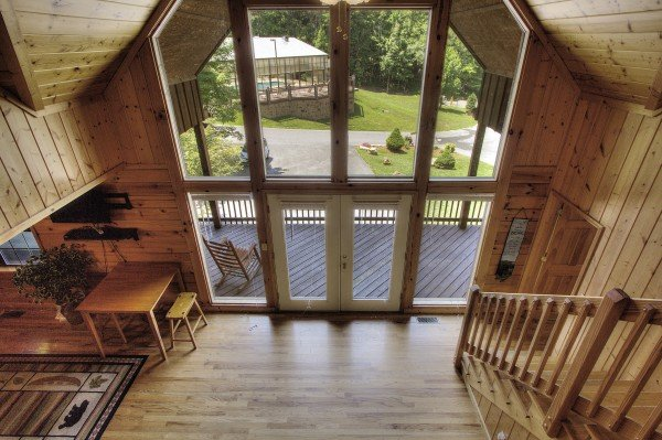 Entryway at Pool Side Lodge, a 6 bedroom cabin rental located in Pigeon Forge