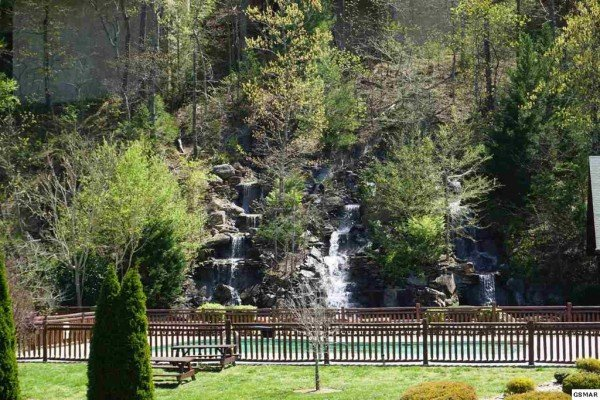 Water feature near Bear Bottom Retreat, a 4 bedroom cabin rental located in Pigeon Forge