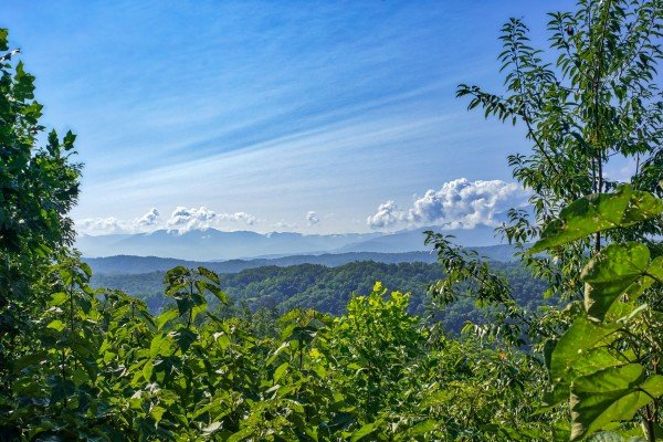 mountain views from angel's majestic view a 3 bedroom cabin rental located in pigeon forge