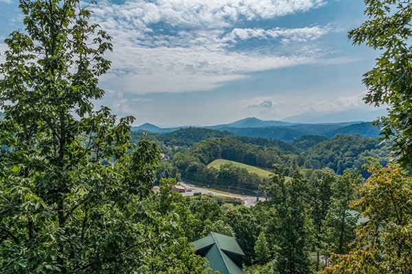 view from at a beautiful memory a 4 bedroom cabin rental located in pigeon forge