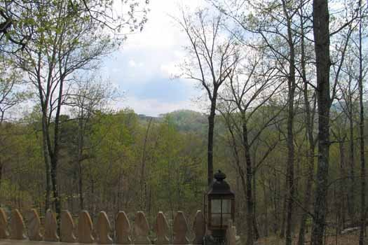 Smoky mountains seen from Just Us, a 1 bedroom cabin rental located in Pigeon Forge