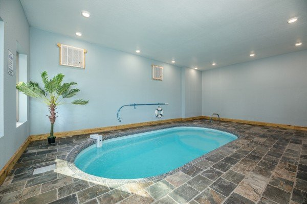 Indoor pool at Pinot Splash, a 4 bedroom cabin rental located in Gatlinburg