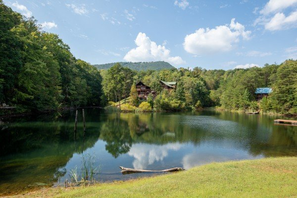 Community fishing pond at Misty Mountain Sunrise, a 3 bedroom cabin rental located in Pigeon Forge