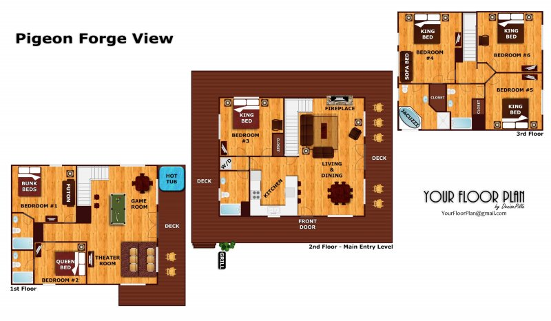 Pigeon Forge View A Pigeon Forge Cabin Rental – Forge Wood Site Plan
